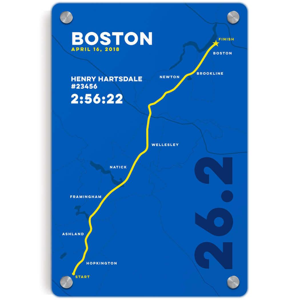 Marathon Maps Wall Art - Boston