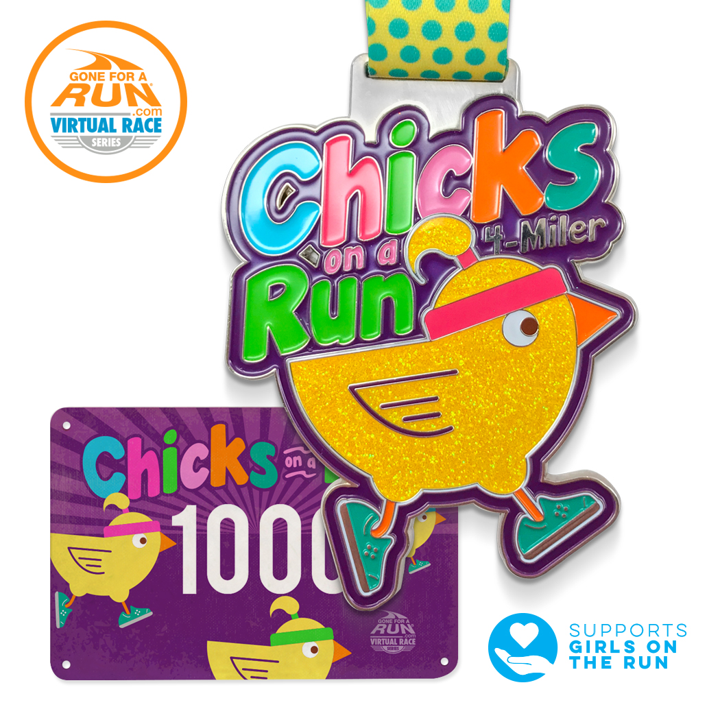 Chicks on a Run Virtual Race Packet