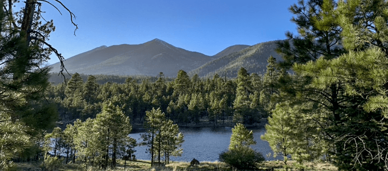 View of Flagstaff Arizona Mountains and Lake