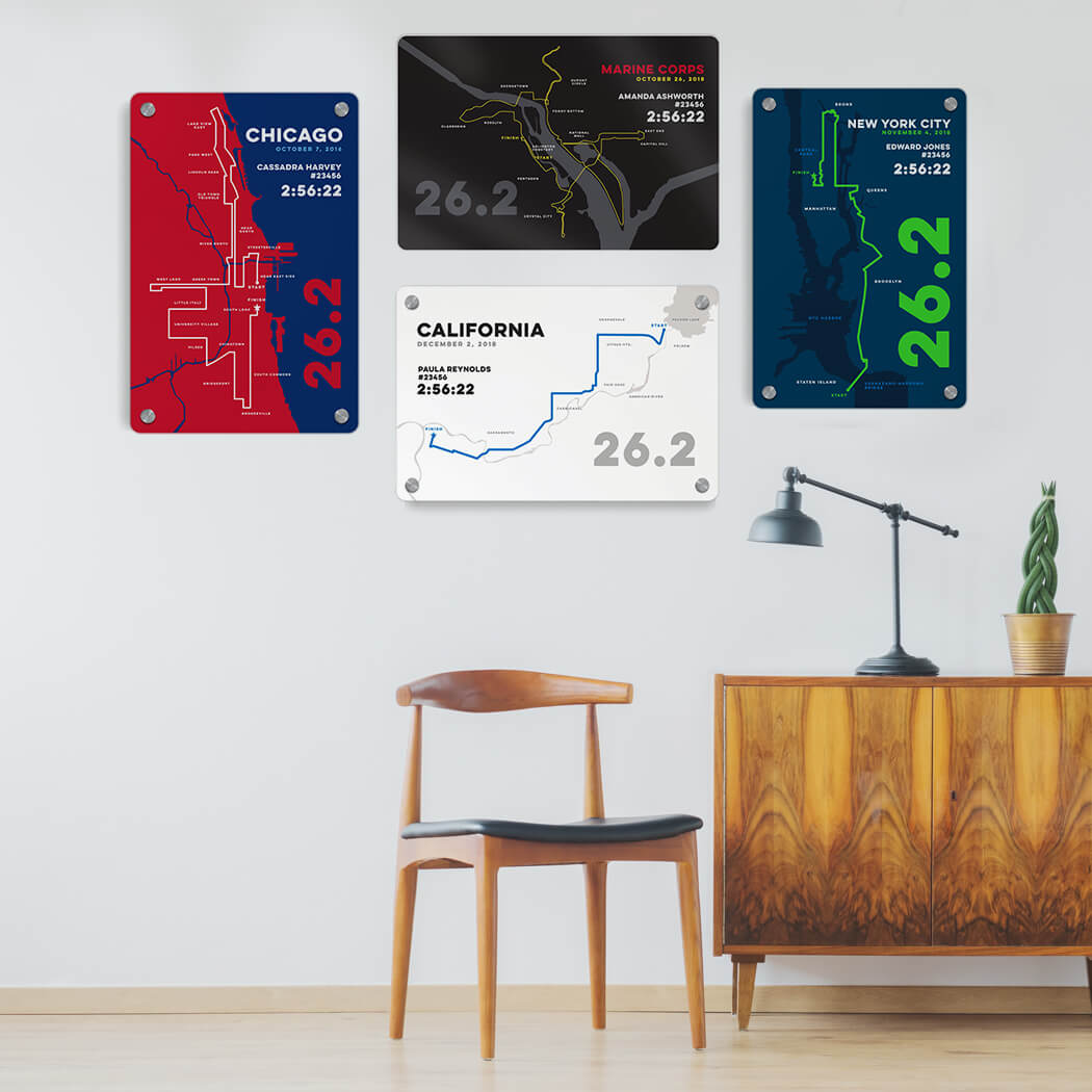 Marathon Map Art Collection
