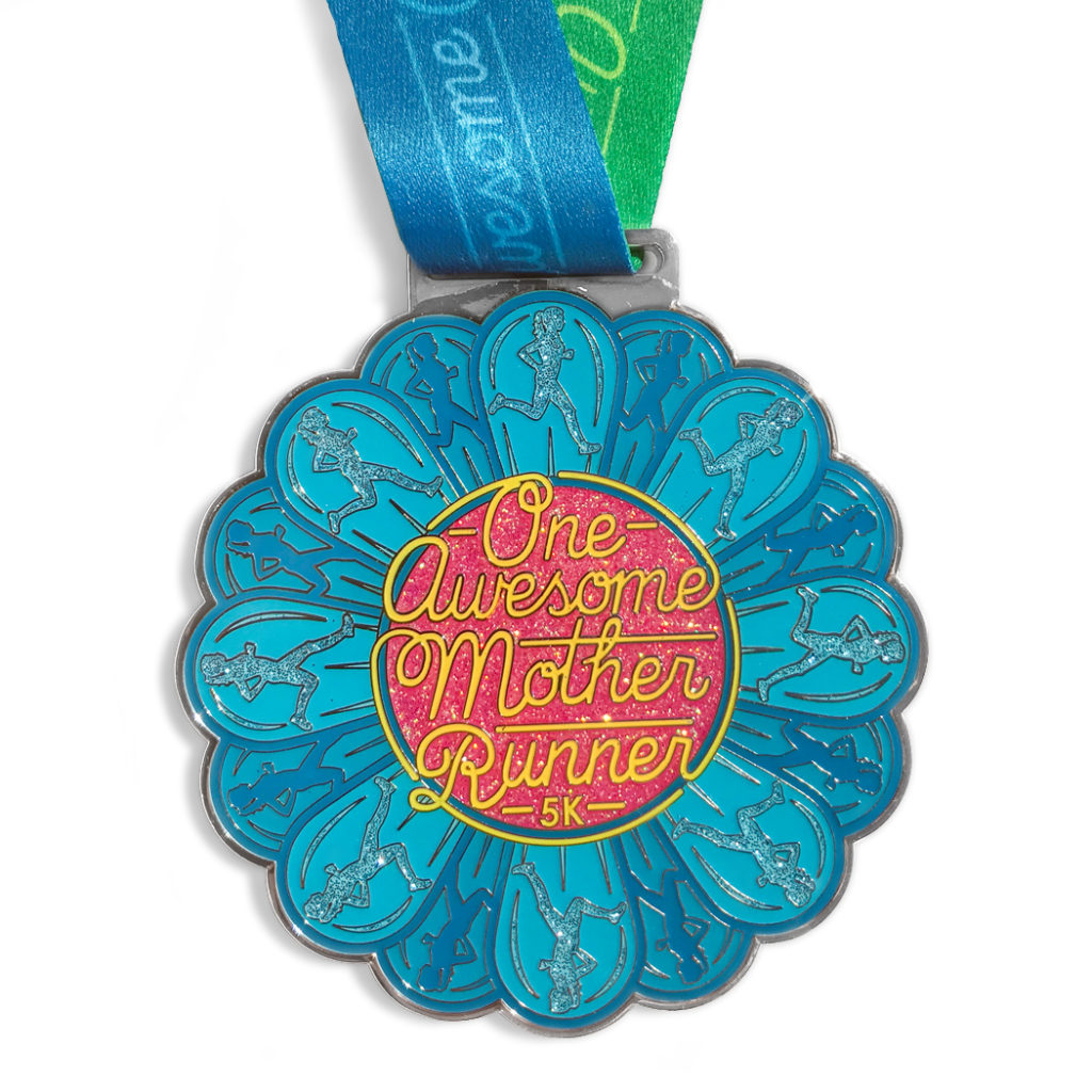 One Awesome Mother Runner Medal