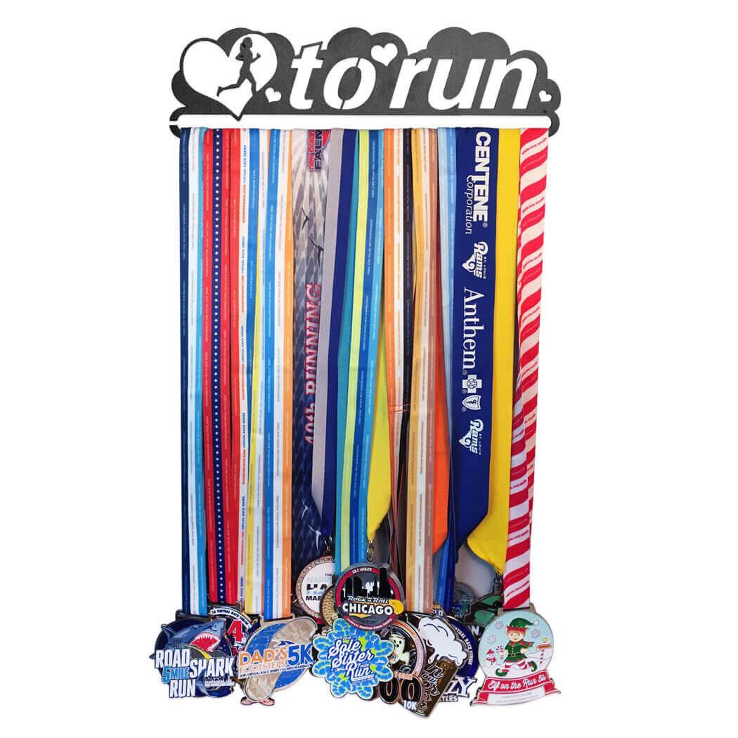Love to Run Medal Hanger