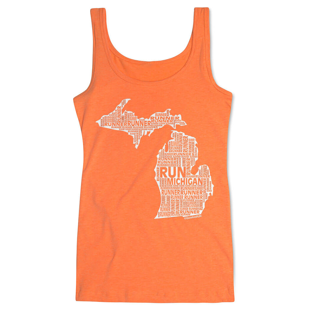 Women's Athletic Tank Top Michigan State Runner