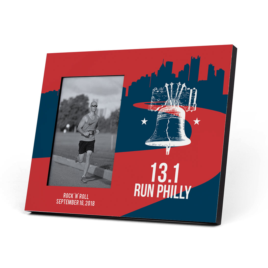 Running Photo Frame - 13.1 Philadelphia Liberty Bell - Personalization Image