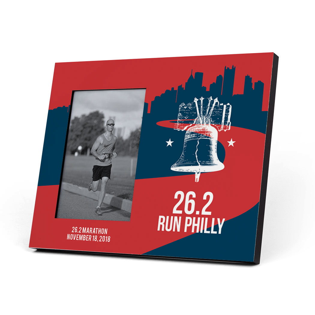 Running Photo Frame - 26.2 Philadelphia Liberty Bell - Personalization Image