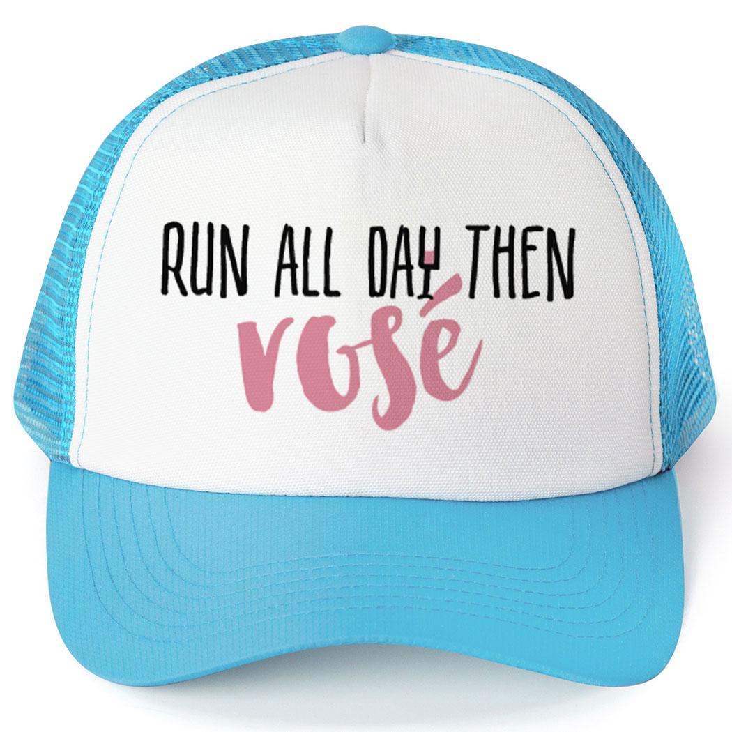 b4a741bb3d3 Running Trucker Hat - Run All Day Then Rosé