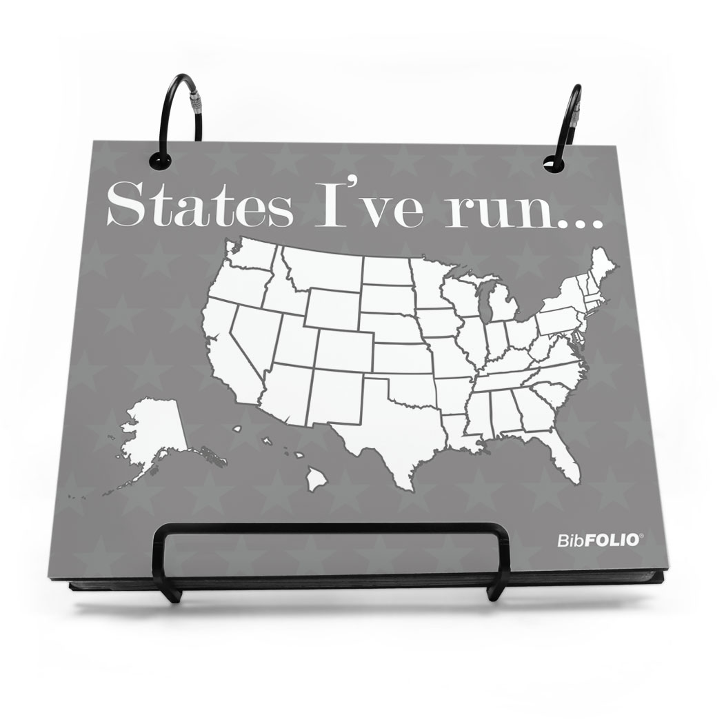 BibFOLIO Race Bib Album Running The Usa Map Dry Erase