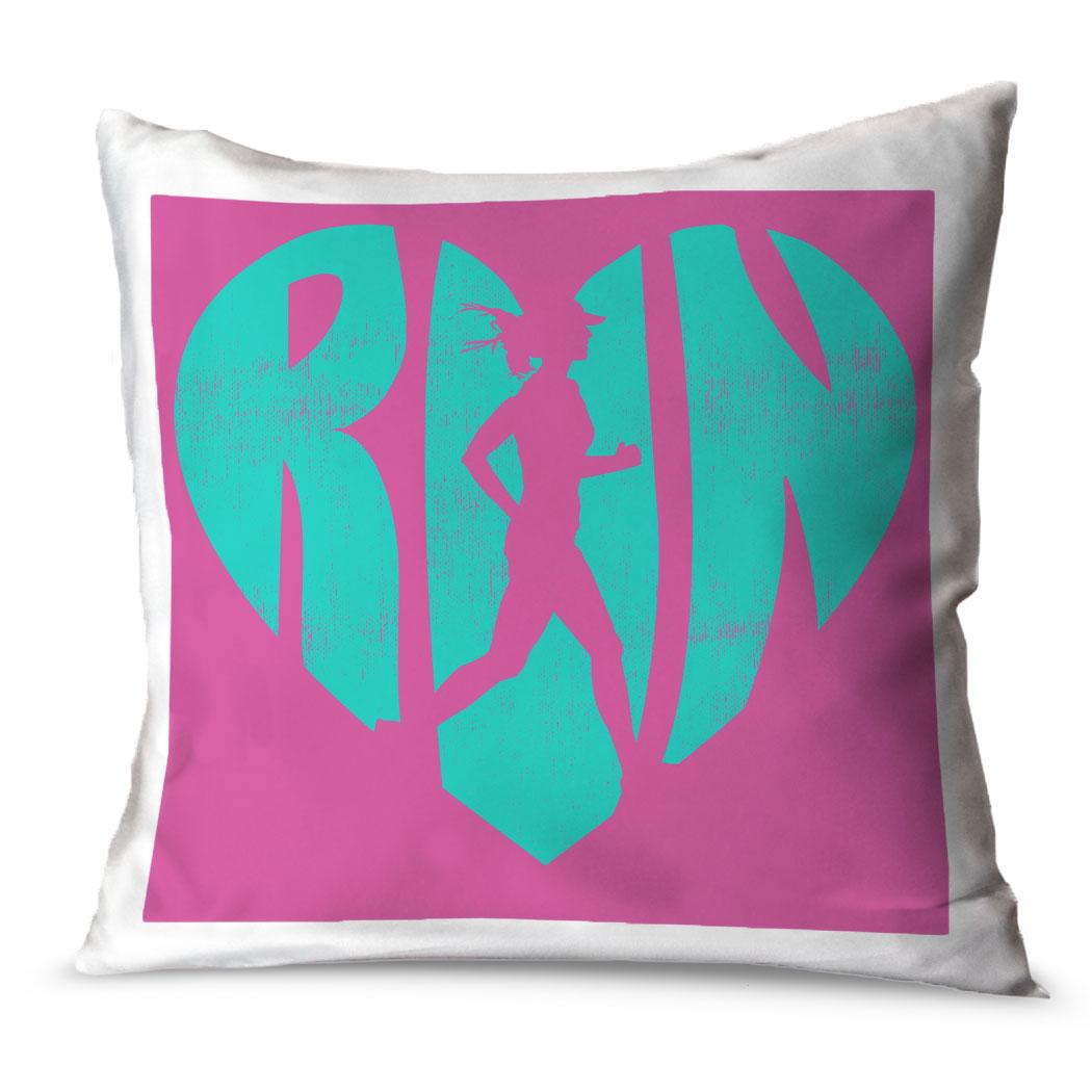 Throw Pillow Love : Running Throw Pillow Love The Run Gone For a Run