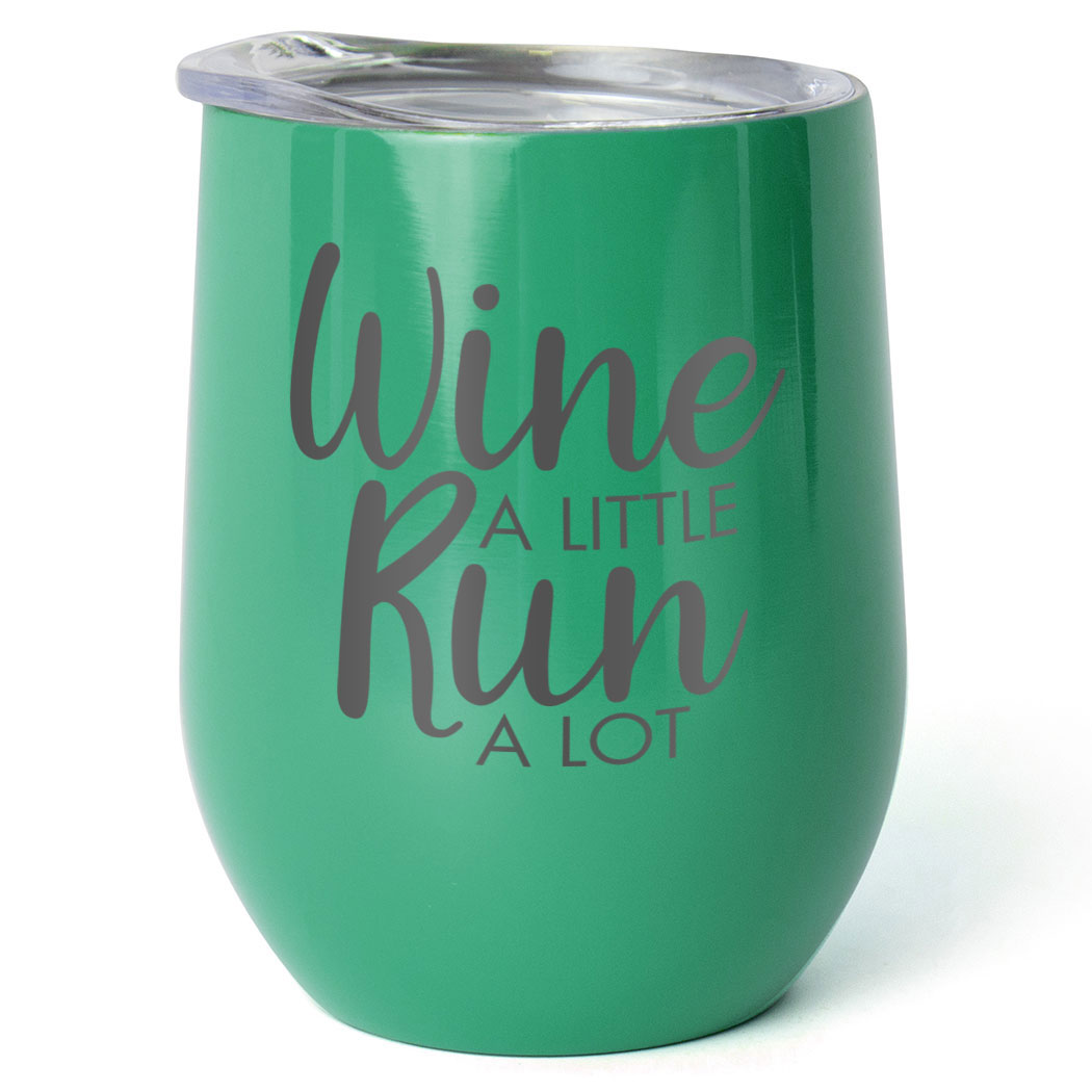 Running Stainless Steel Wine Tumbler - Wine A Little Run A Lot