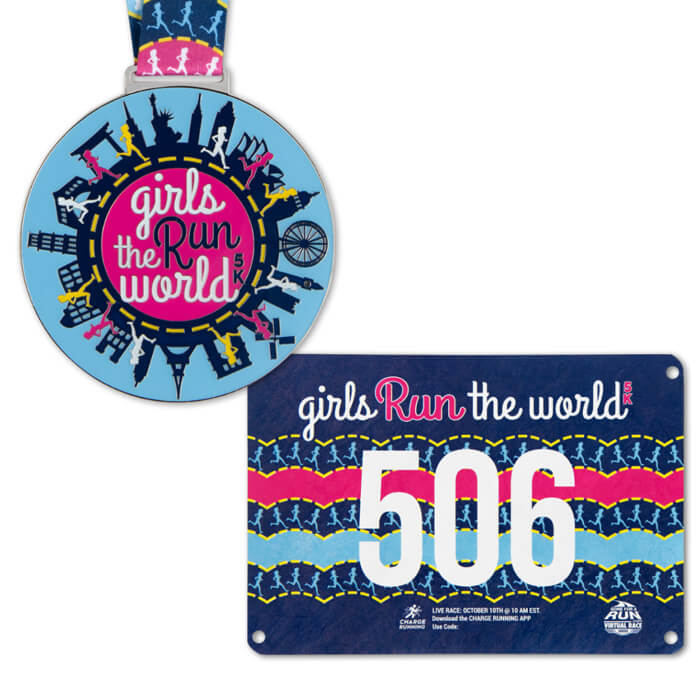 Authentic Race Bib & Medal