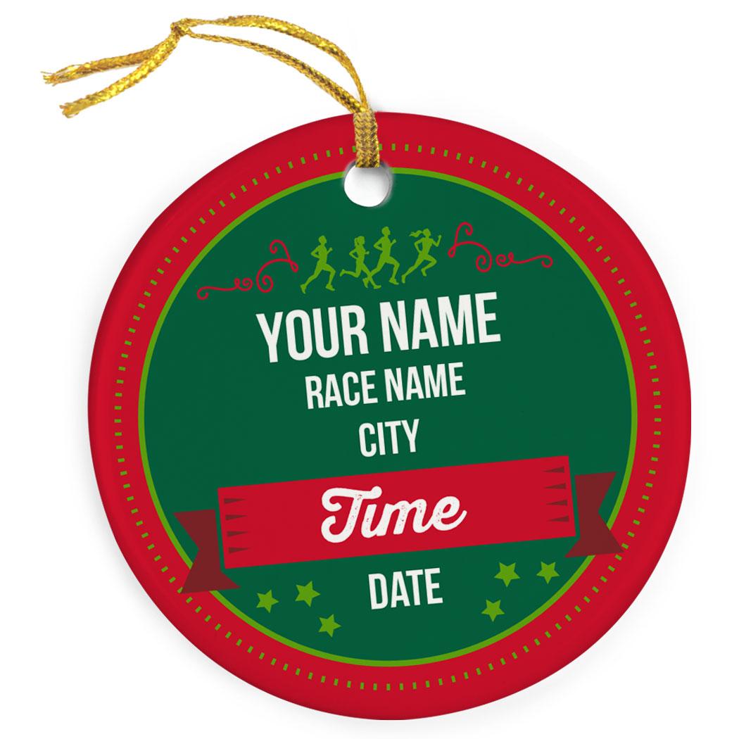 running porcelain ornament custom holiday race