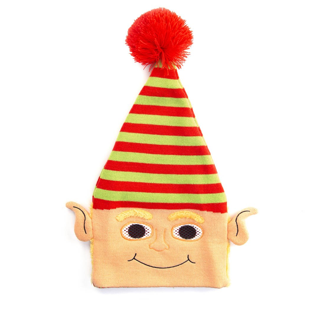 Happy Hatter Elf Beanie Hat & Mask