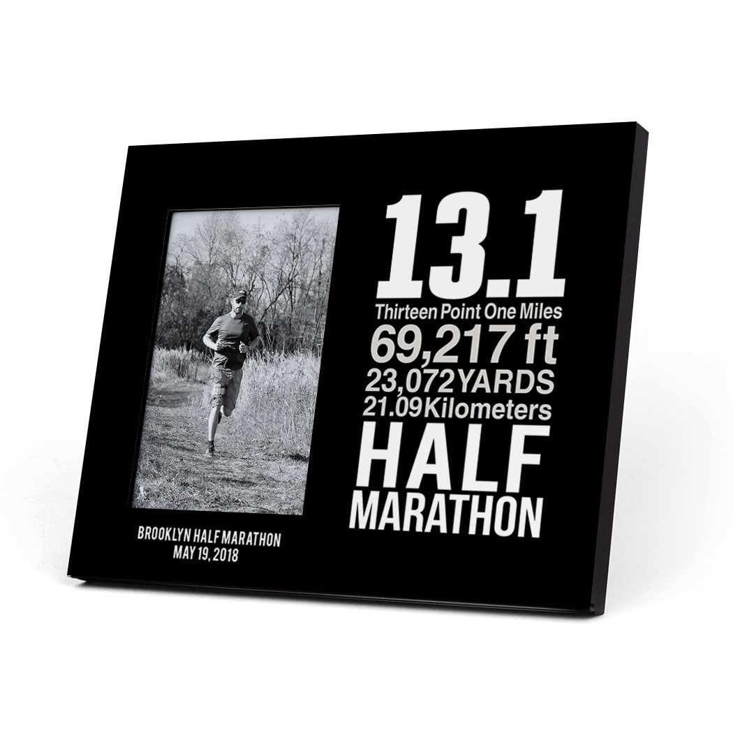 Running Photo Frame - 13.1 Math Miles - Personalization Image