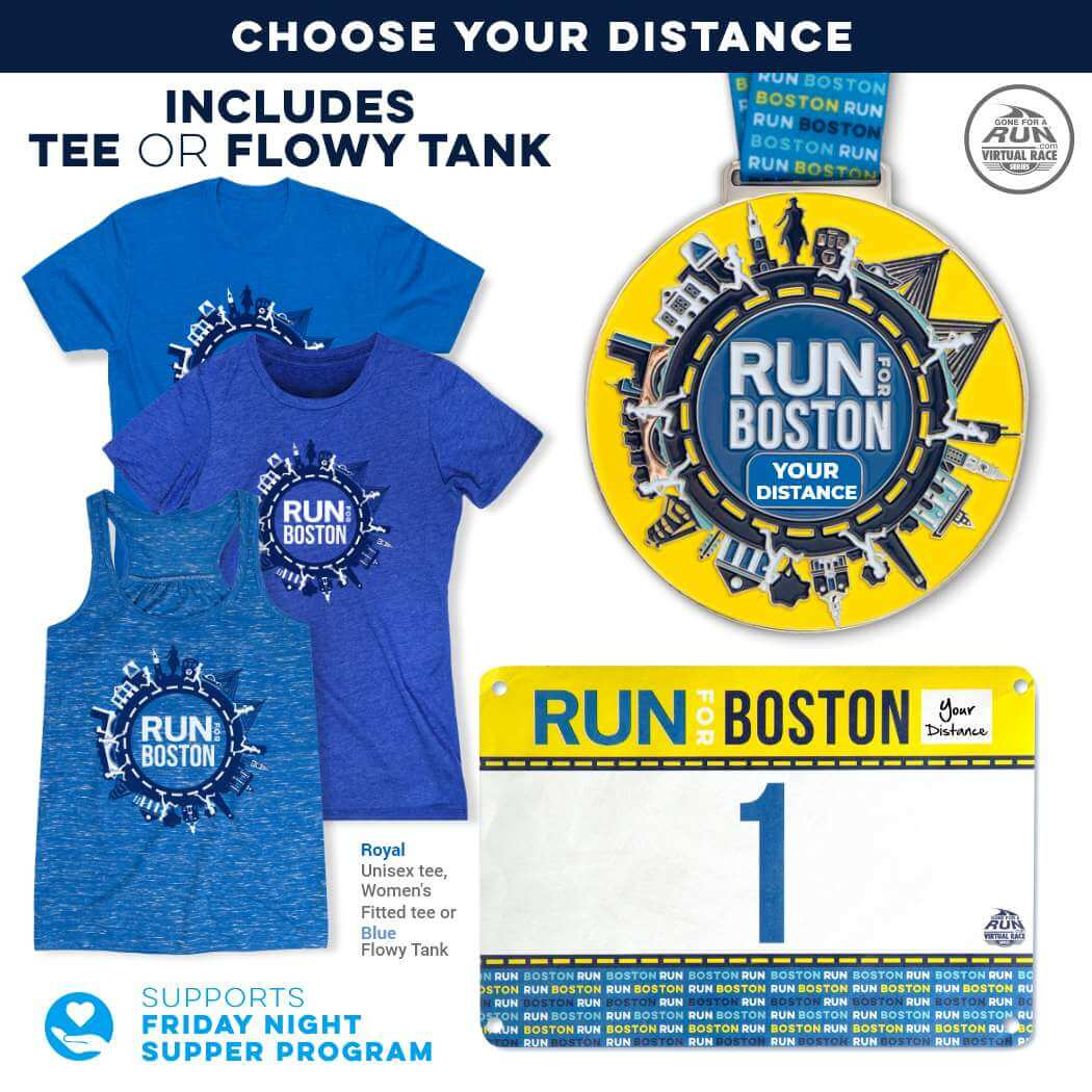 Virtual Race - Run For Boston (5 Race Cities Challenge)