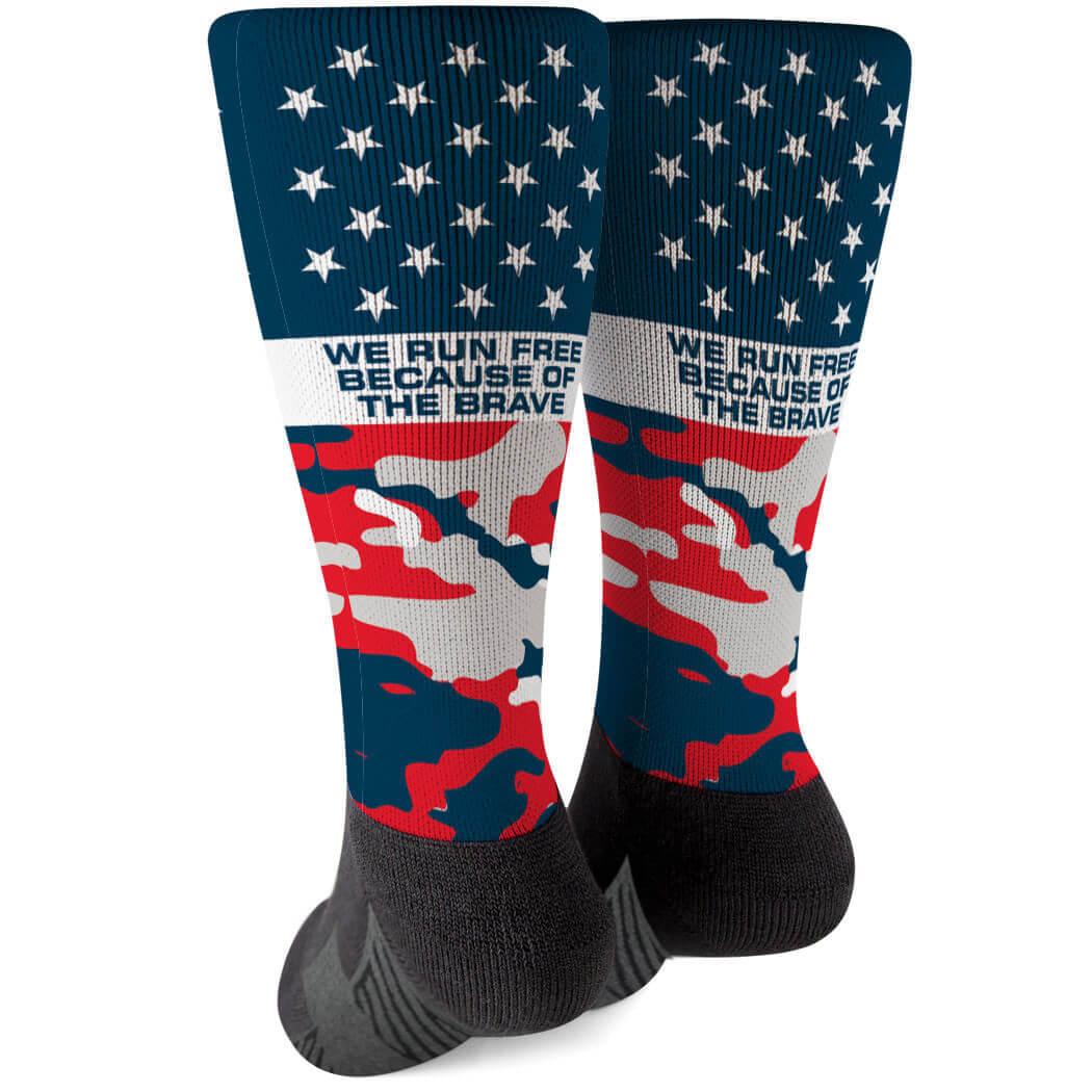 Running Printed Mid-Calf Socks - Run