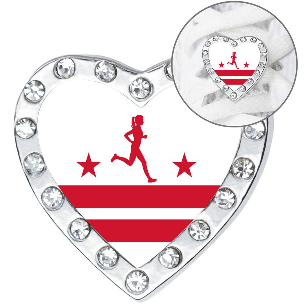 new product 49833 8dae9 Running Shoelace Charm - Washington D.C. Runner Girl