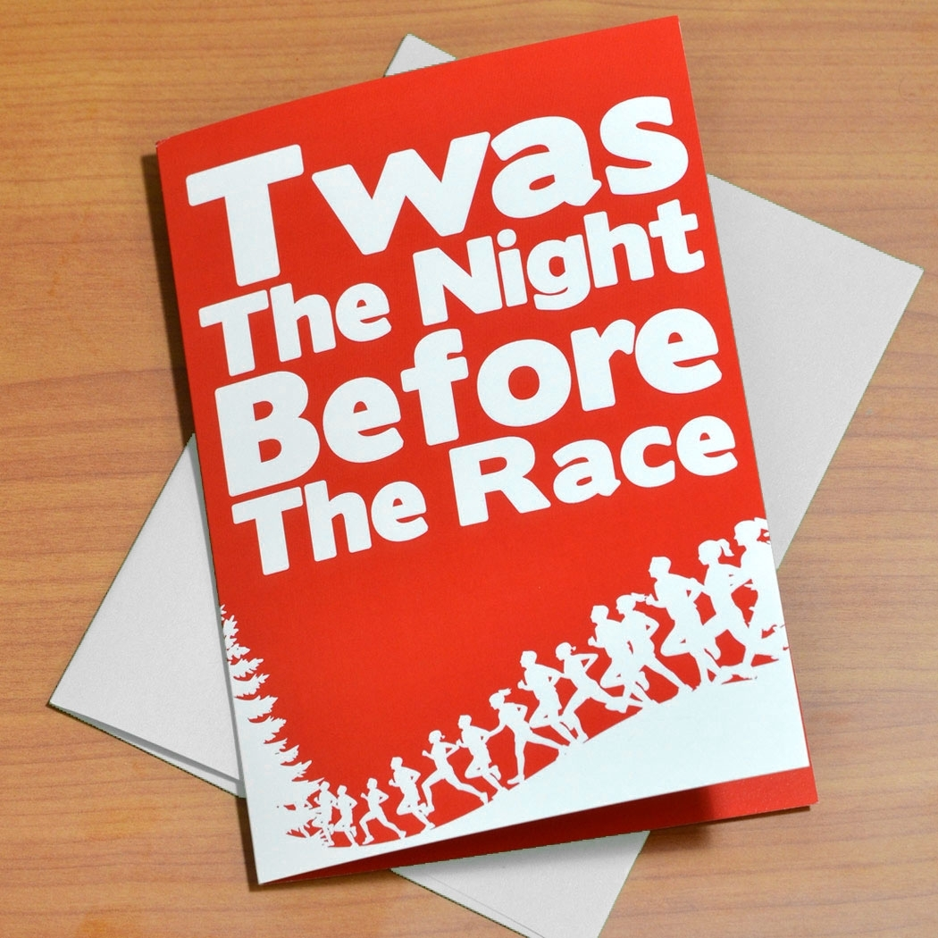 Twas the night before the race greeting card runners greeting cards twas the night before the race greeting card box set of 12 kristyandbryce Choice Image