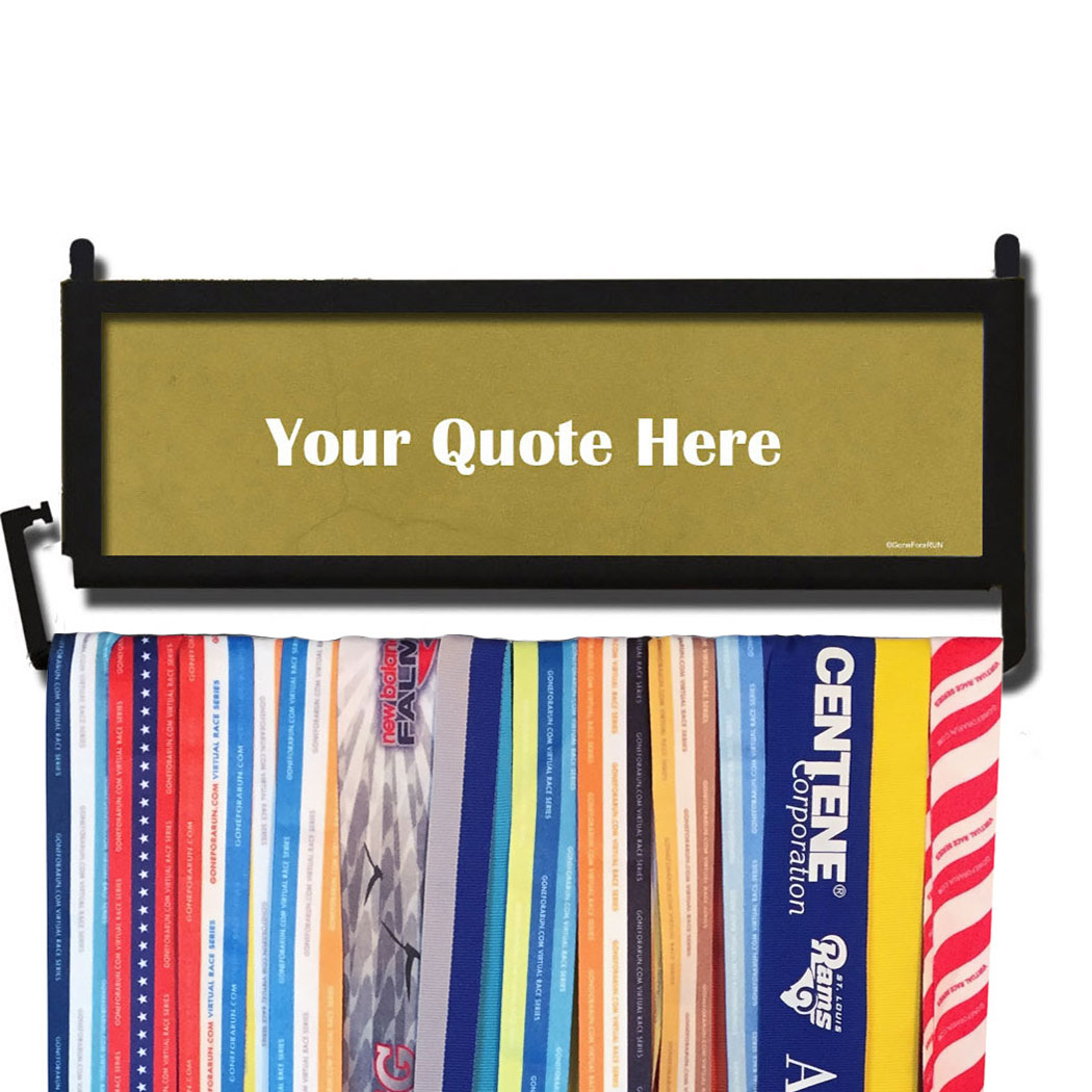 Personalized RunnersWALL Your Quote Here Medal Display | Running ...