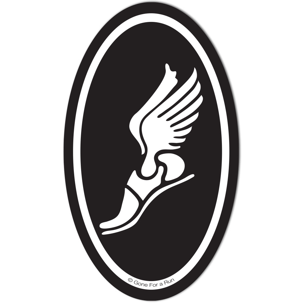 winged foot decal black white running decals marathon decal rh goneforarun com  winged foot logo red