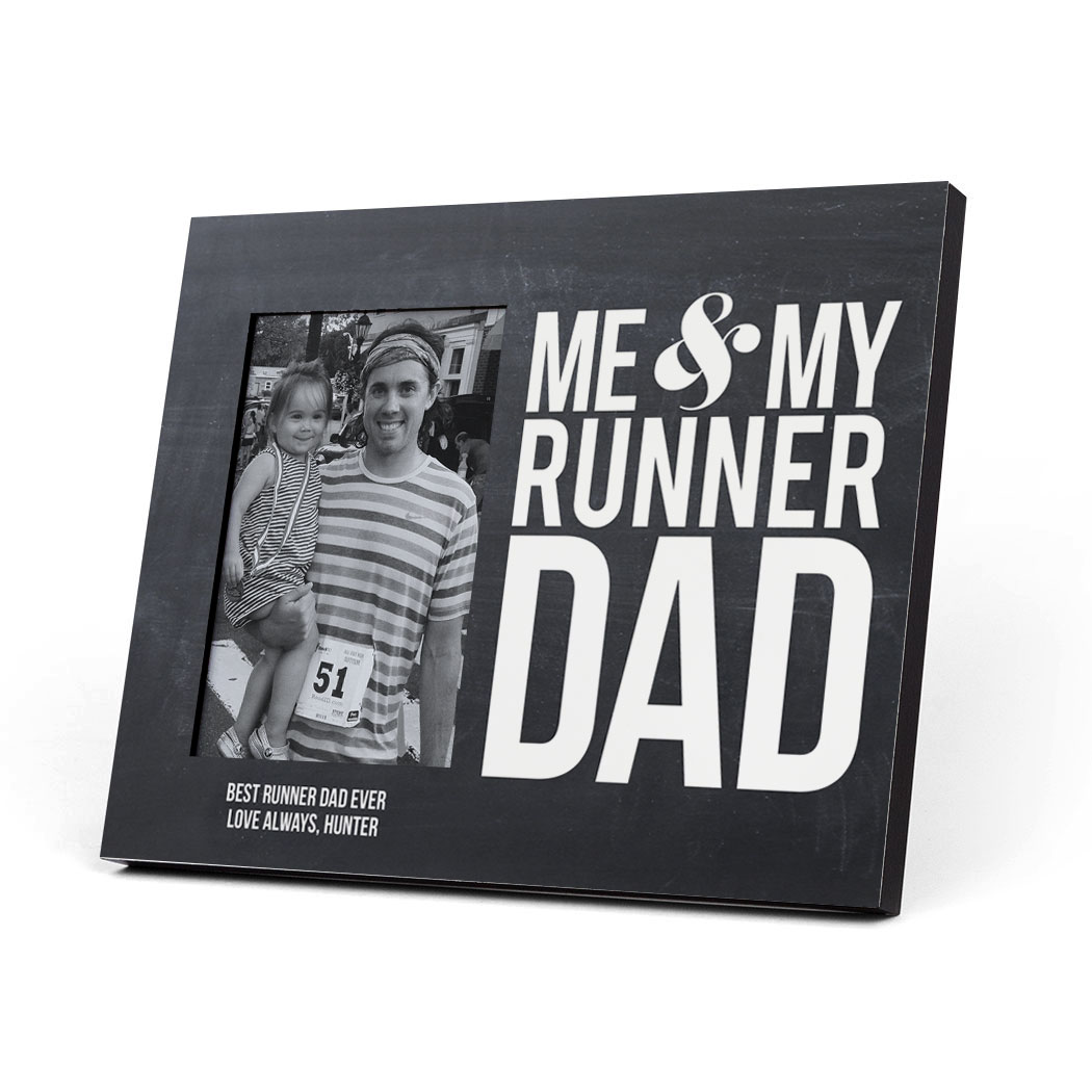 Running Photo Frame - Me & My Runner Dad - Personalization Image