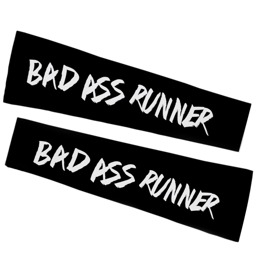 Running Printed Arm Sleeves - Bad Ass Runner