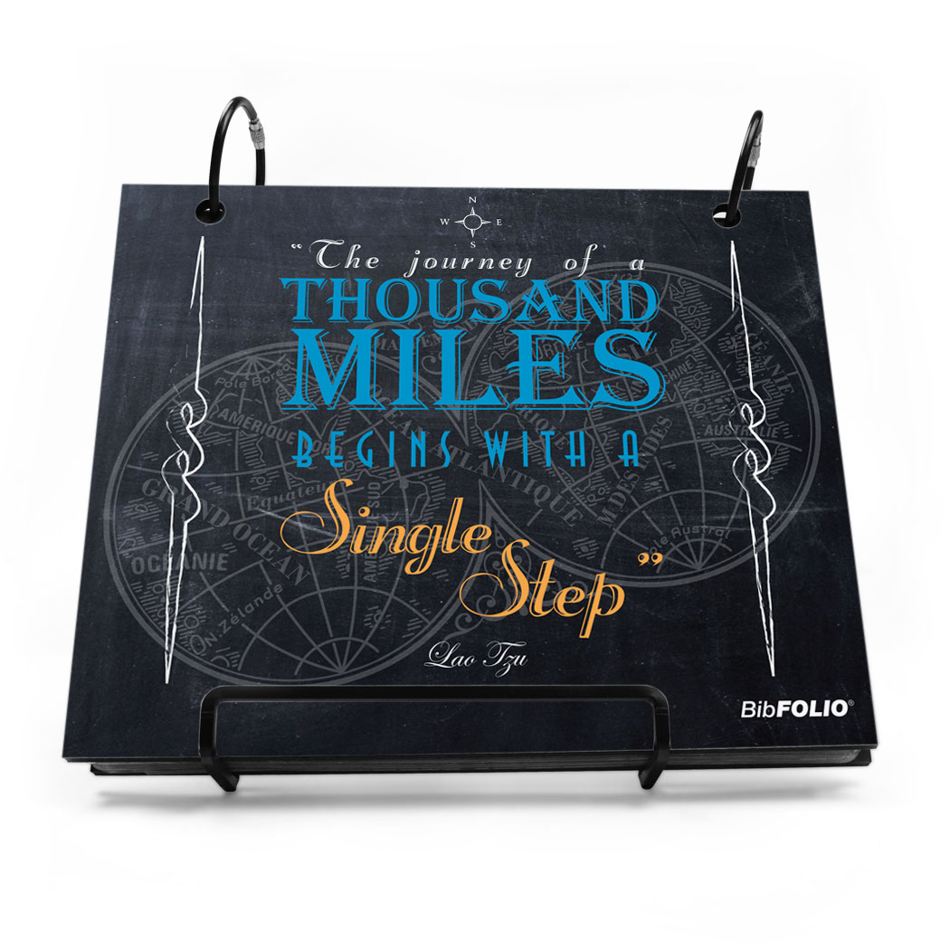 BibFOLIO® Race Bib Album - The Journey Of A Thousand Miles