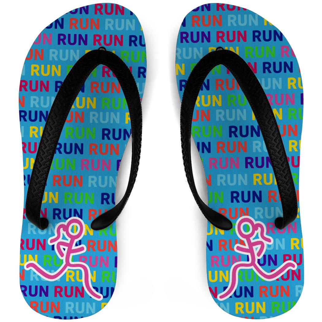 Running Flip Flops Run Run Run Stick Figure