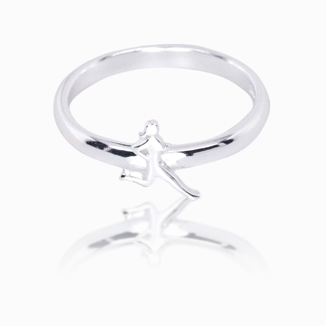 16d57ce75a6 Runner Girl Sterling Silver Ring