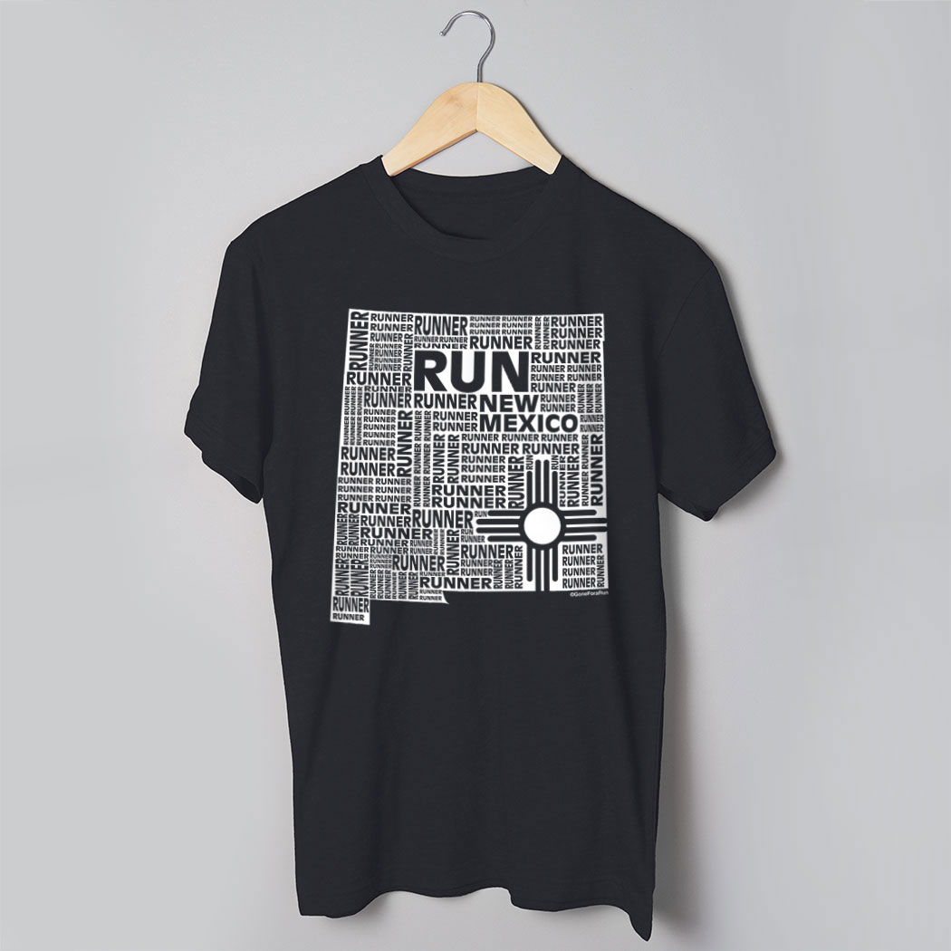 75dad5f3 Running Short Sleeve T-Shirt - New Mexico State Runner | Gone For a Run