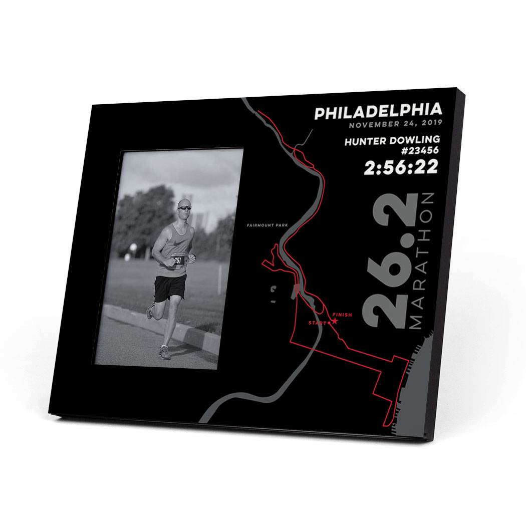 Running Photo Frame - Philadelphia 26.2 Route