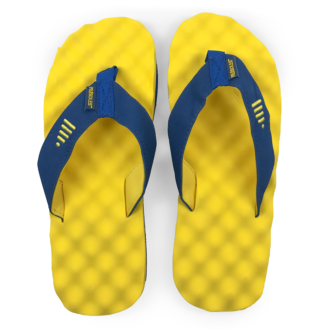PR SOLES Recovery Flip Flops for Runners, Boston Colors