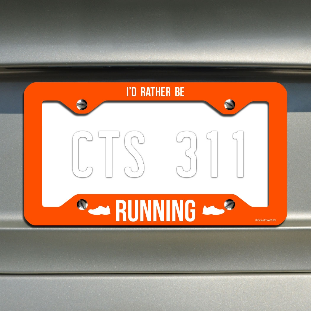 I\'d Rather Be Running... License Plate Holder