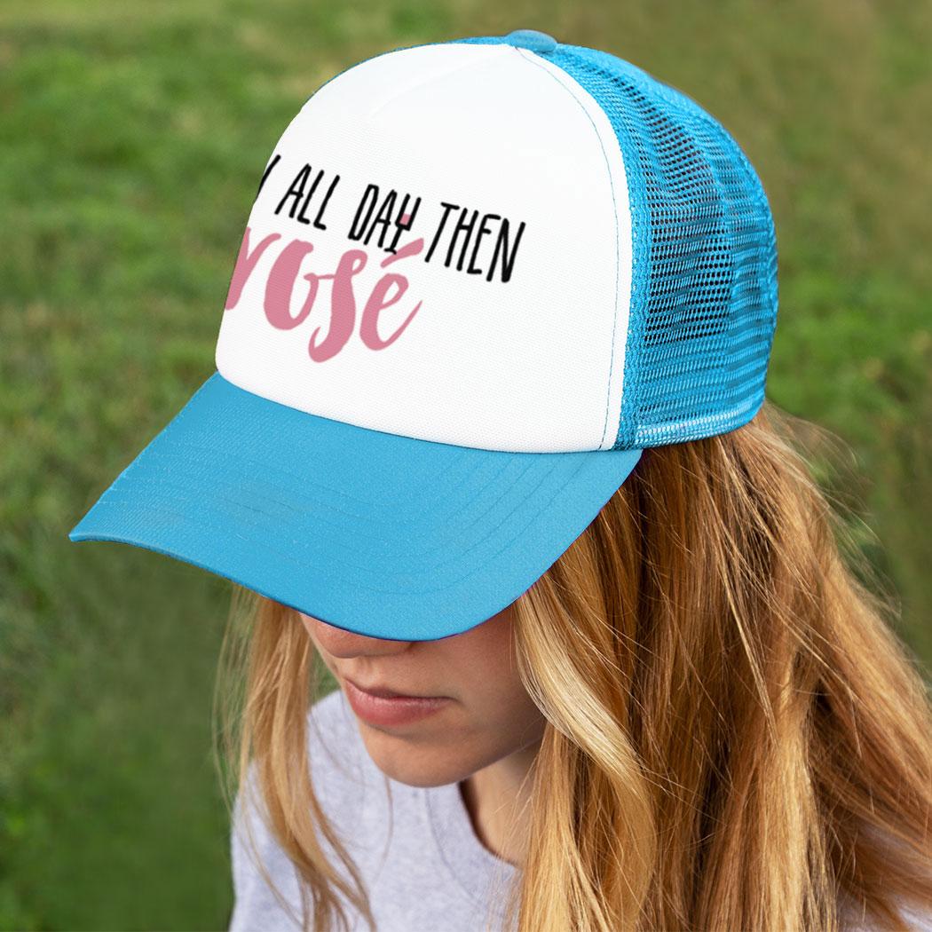 c699b8b2cac ... Running Trucker Hat - Run All Day Then Rosé ...