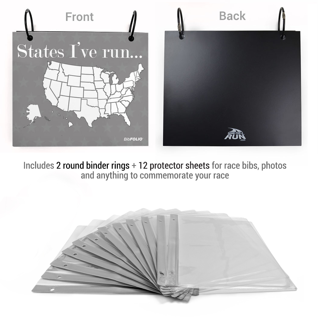 BibFOLIO Race Bib Album Running The Usa Map Dry Erase - Us map dry erase