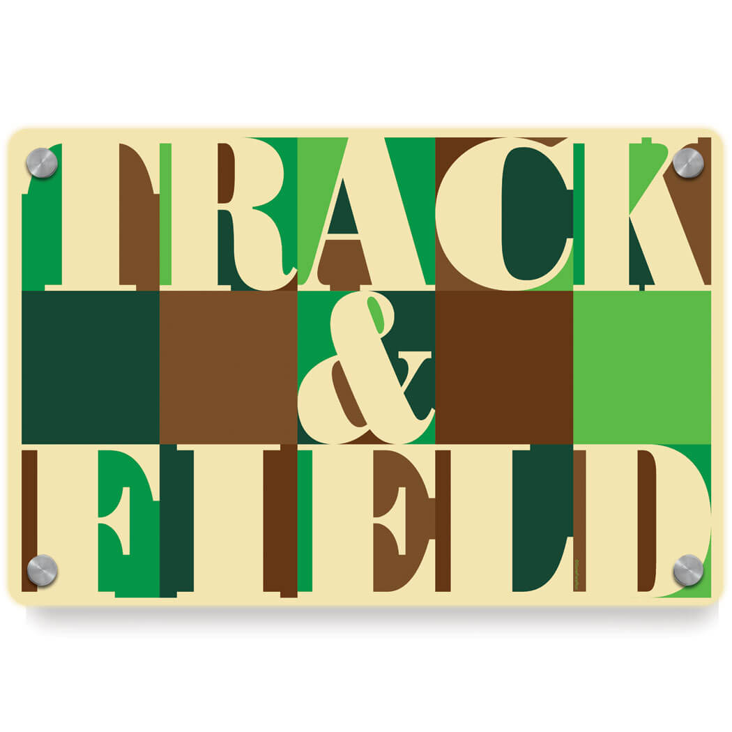 Track and Field Metal Wall Art Panel - Track & Field Mosaic ...