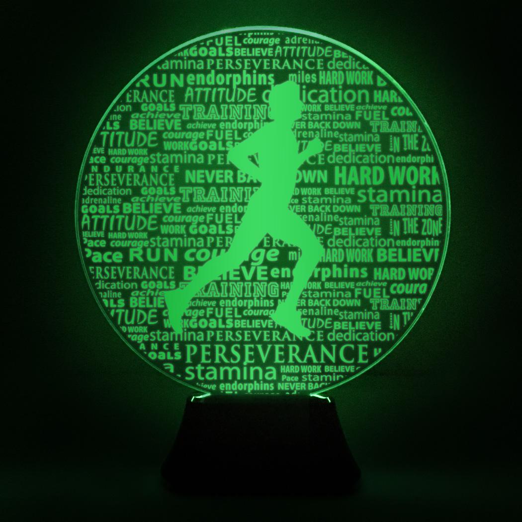 Running Acrylic LED Lamp Male Inspirational Words