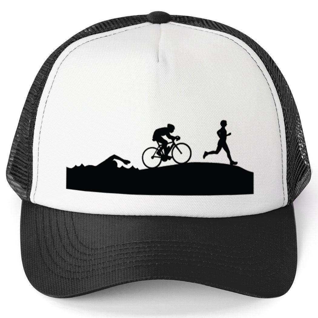 826eb9db2f4 Triathlon Trucker Hat Swim Bike Run Silhouettes Click to Enlarge