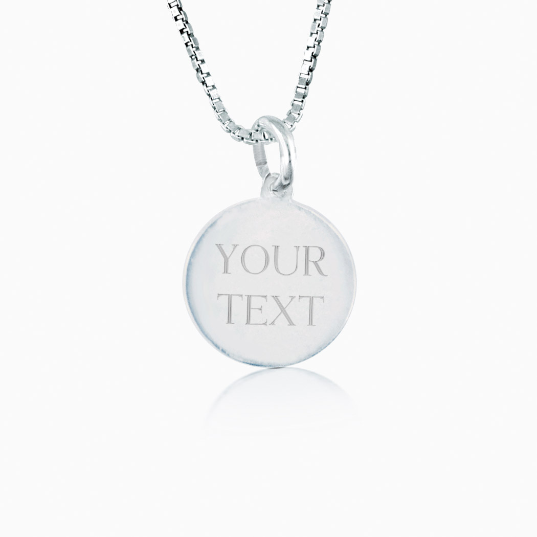 Sterling silver custom engraved 12mm circle pendant sterling sterling silver custom engraved 12mm circle pendant necklace click to enlarge aloadofball Gallery