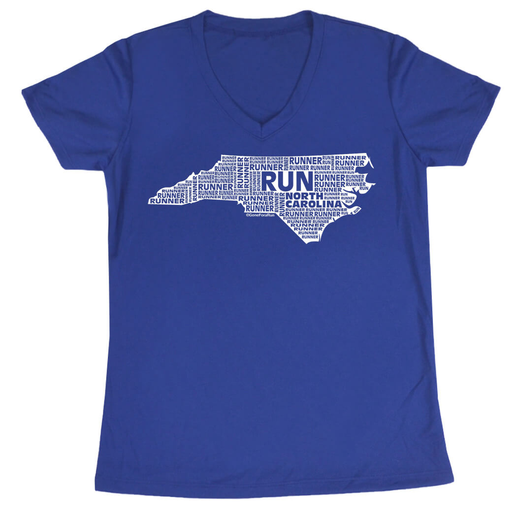 Women's Running Short Sleeve Tech Tee North Carolina State Runner
