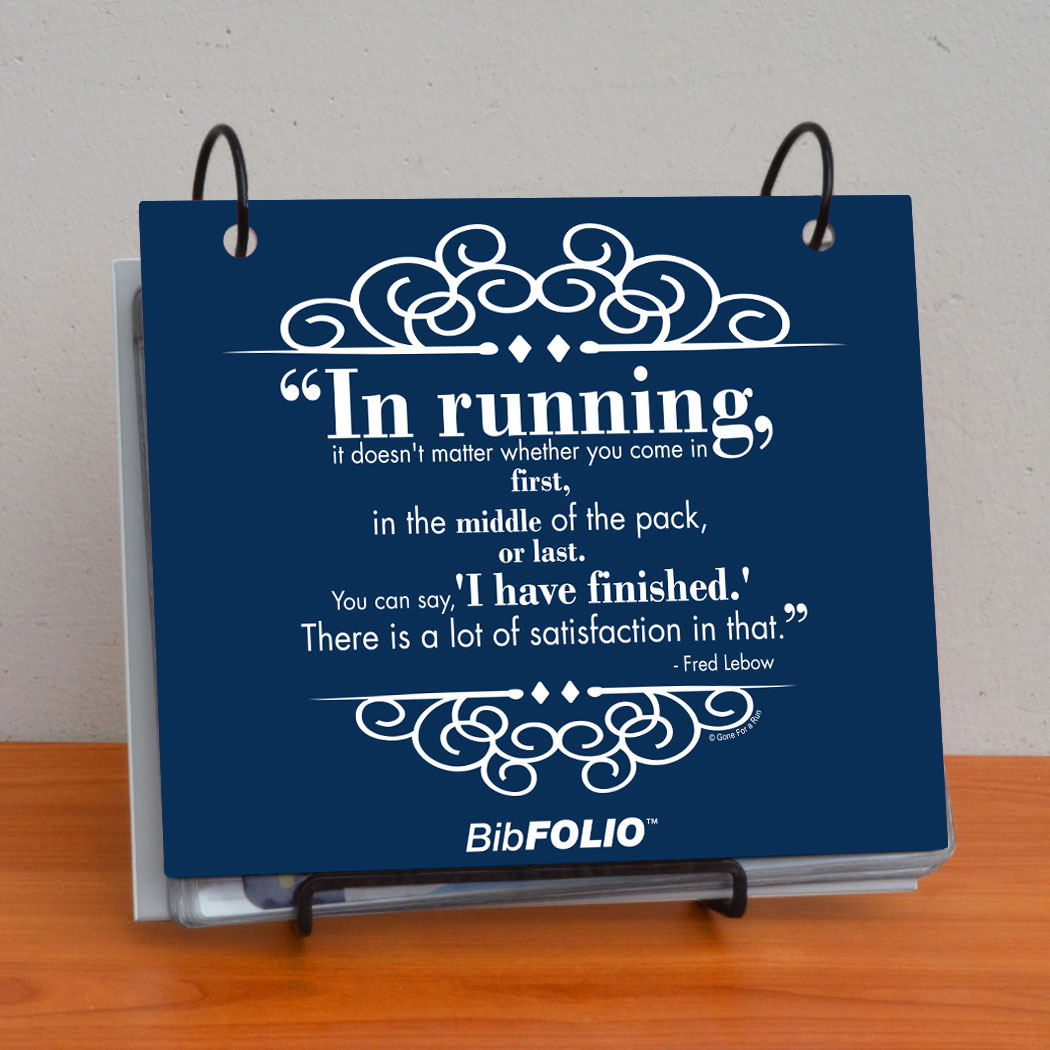 BibFOLIO® Race Bib Album - In Running