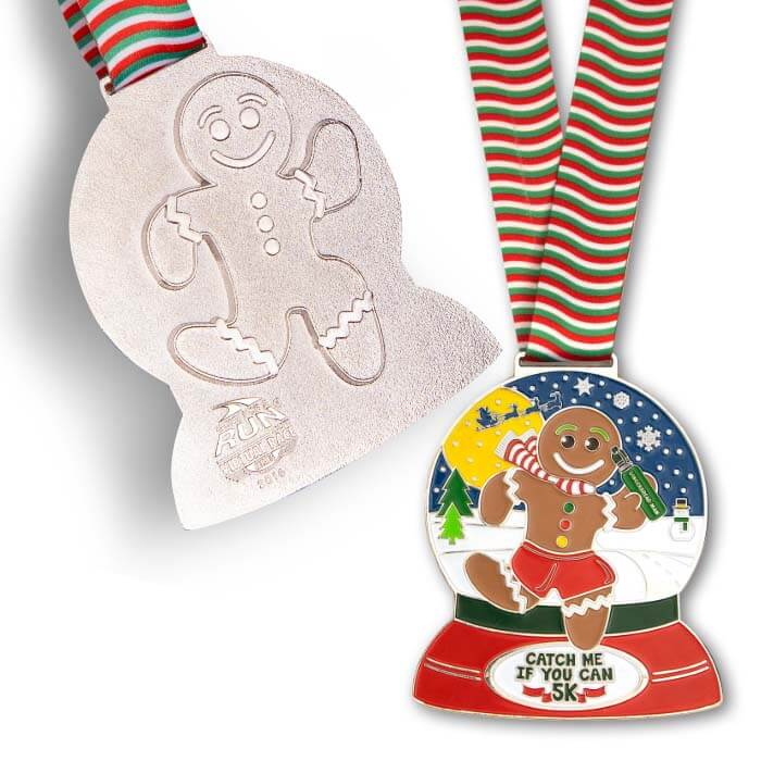 Race Medal with Cookie Cutter imprint on back
