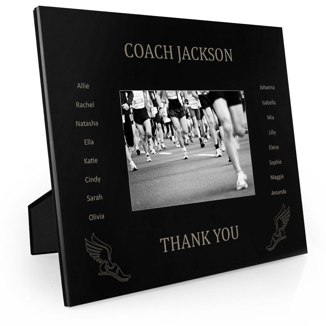 Track & Field Engraved Picture Frame - Team Name With Roster (Coach ...