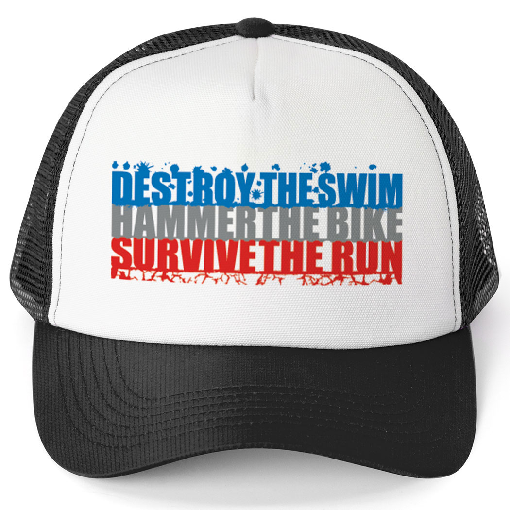 Triathlon Trucker Hat - Destroy