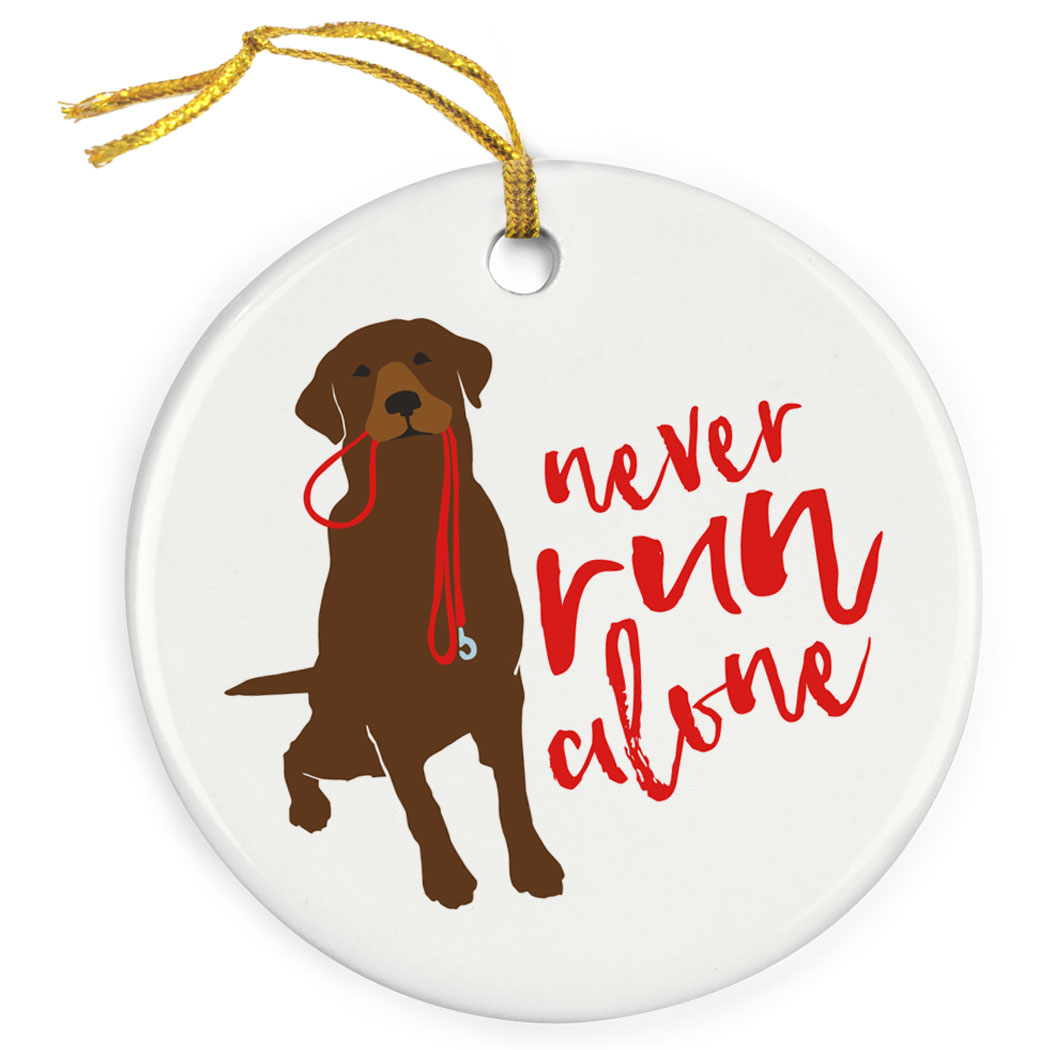 Running Porcelain Ornament Never Run Alone