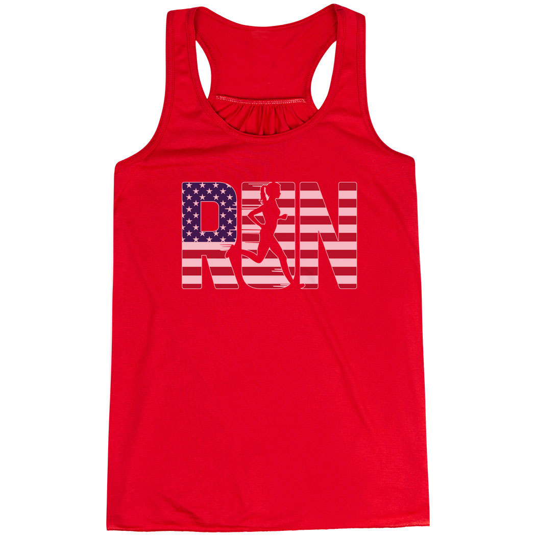 Flowy Racerback Tank Top - Run Girl USA