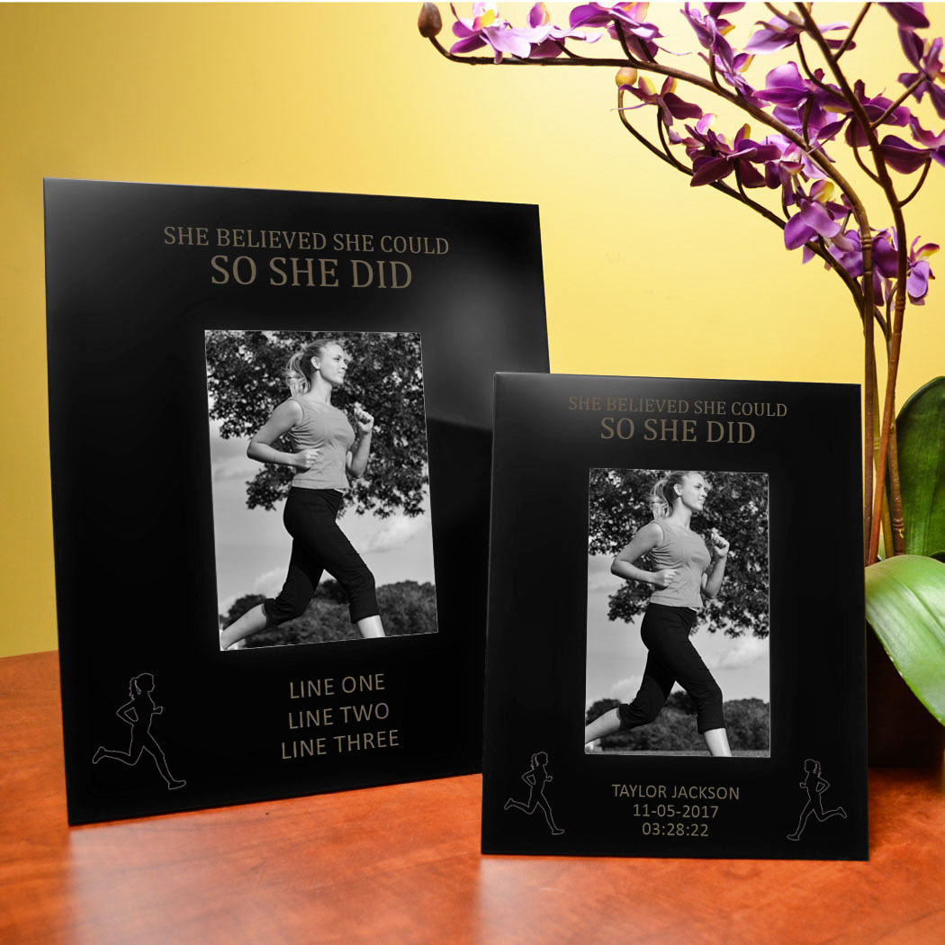 Running Engraved Picture Frame She Believed Could So Did
