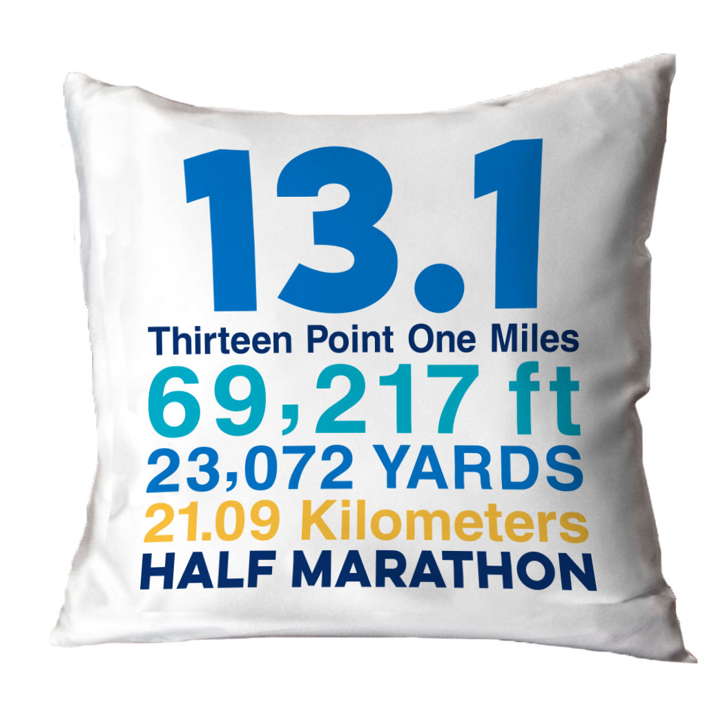 Running Decorative Pillow - 13.1 Math Miles