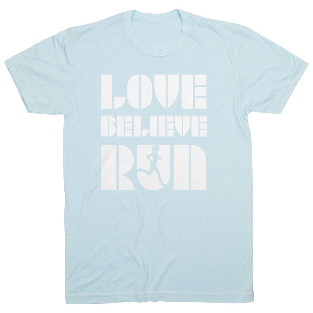 Running Short Sleeve T-Shirt - Love Believe Run