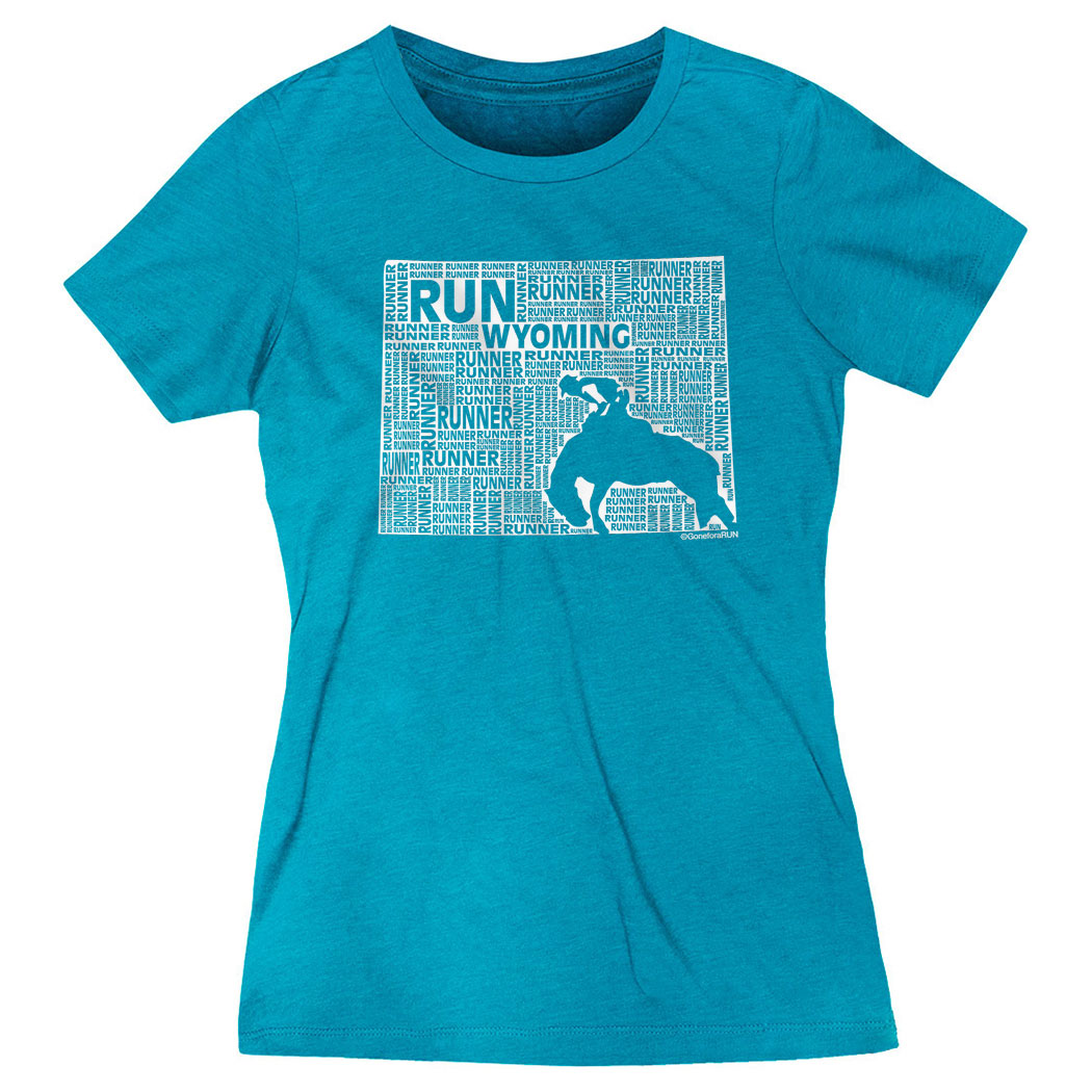 Women's Everyday Runners Tee Wyoming State Runner