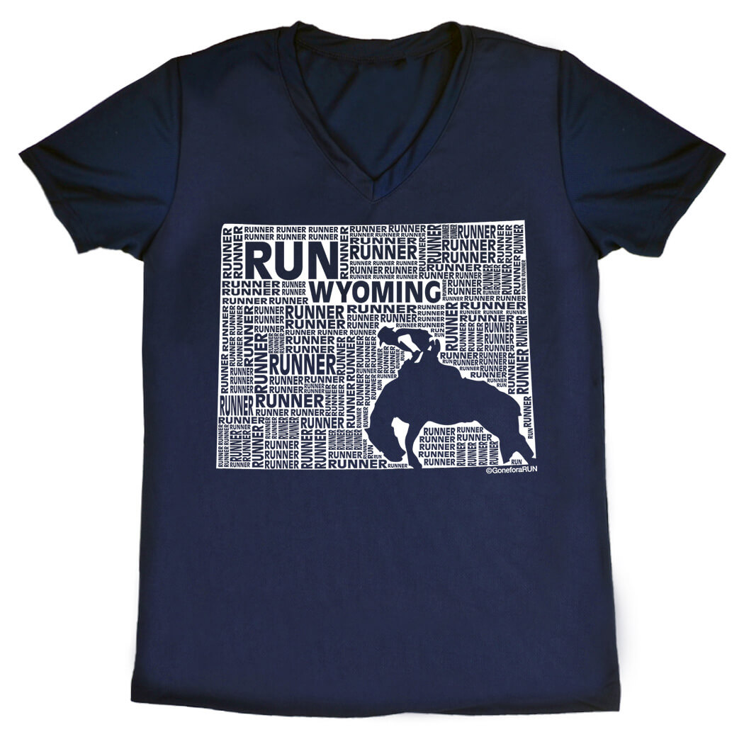Women's Running Short Sleeve Tech Tee Wyoming State Runner